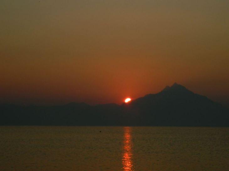 Poza facuta de sotul meu in primul nostru concediu- Sarti, Grecia